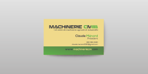 Carte d'affaires - Machinerie CM | Hot Dog Trio