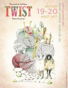 Poster - Festival de la Fibre Twist | Hot Dog Trio